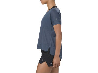 "ASICS Damen Laufshirt ""Crop Top"" Kurzarm Blau"