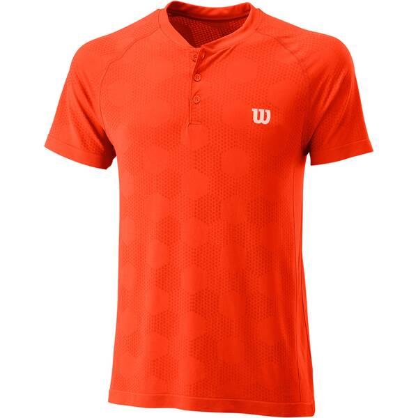 """WILSON Herren Tennisshirt """"Power Seamless Henley-Shirt"""""""