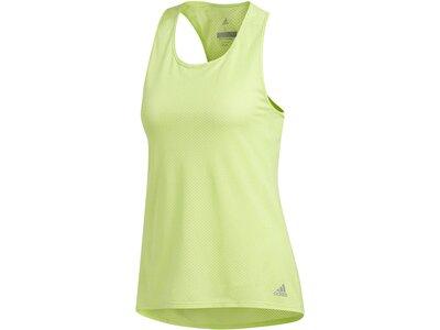 "ADIDAS Damen Laufshirt / Tank Top ""Response Light Speed"" Gelb"