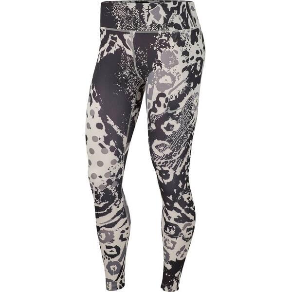 Hosen - NIKE Damen Tights 7 8 Printed Running › Silber  - Onlineshop Intersport