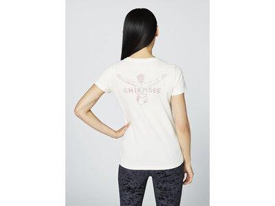 CHIEMSEE T-Shirt mit großem Jumper-Logo auf dem Rücken - GOTS zertifiziert Weiß