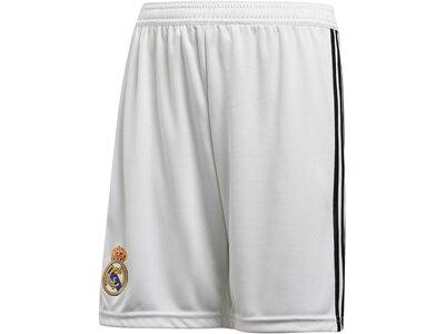 "ADIDAS Kinder Fußballshorts ""Real Madrid Home Shorts"" Saison 2018/2019 Grau"