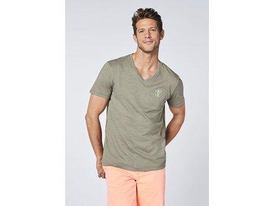 CHIEMSEE T-Shirt mit CHIEMSEE Print vorn und hinten - z.T. GOTS zertifiziert Grün