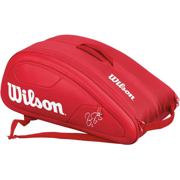 WILSON Tennistasche Federer DNA 12 Pack Red