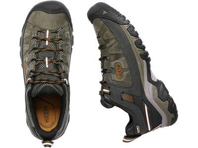 Herren Multifunktionsschuhe KEEN Herren Wanderschuhe Targhee III WP Black Olive/Golden Brown Grau