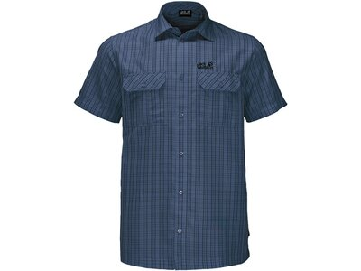 "JACKWOLFSKIN Herren Wanderhemd ""Thompson Shirt Men"" Kurzarm Blau"