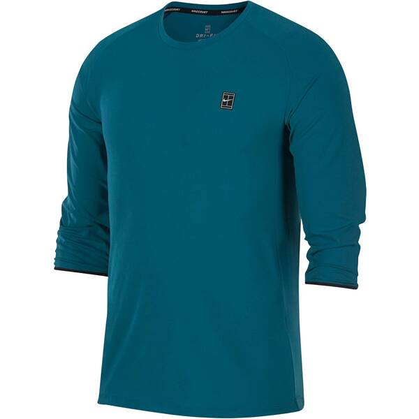 NIKE Herren Tennisshirt Dry Challanger 3/4-Arm | Sportbekleidung > Sportshirts > Tennisshirts | Green - Black | NIKE
