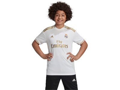 """ADIDAS Jungen Fußballtrikot """"Real Madrid Heimtrikot"""" Kurzarm - Replica Weiß"""