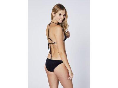 CHIEMSEE Triangel Bikini aus samtigem Material Schwarz