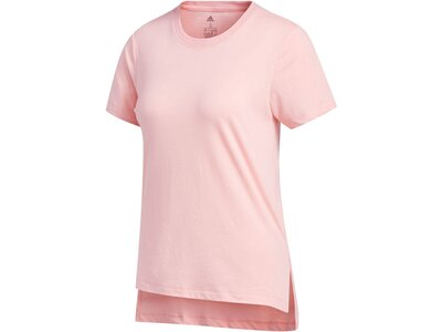 ADIDAS Damen Trainingsshirt Kurzarm Rot