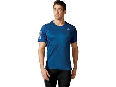 ADIDAS Herren Laufshirt / Trainingsshirt Response Short Sleeve Tee Kurzarm Blau
