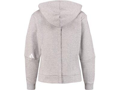 ADIDAS Damen Kapuzensweatshirt Silber