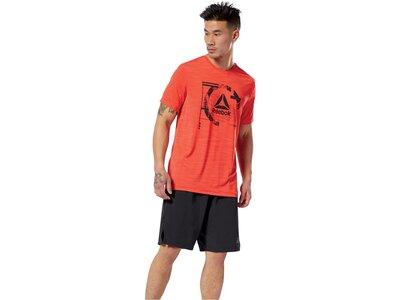 "REEBOK Herren Trainingsshirt ""WOR Activchill Graphic T"" Rot"