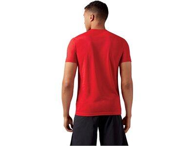 REEBOK Herren Trainingsshirt Crossfit Speedwick F.E.F. Kurzarm Rot