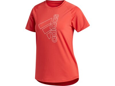 "ADIDAS Damen T-Shirt ""Tech Bos"" Rot"