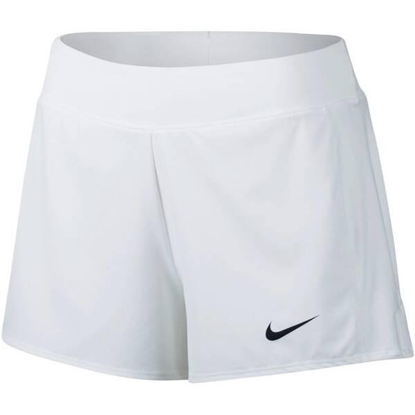 NIKE Damen Tennisshorts Court Flex Pure Tennis Shorts   Sportbekleidung > Sporthosen > Tennisshorts   White - Black   Baumwolle - Polyester   NIKE