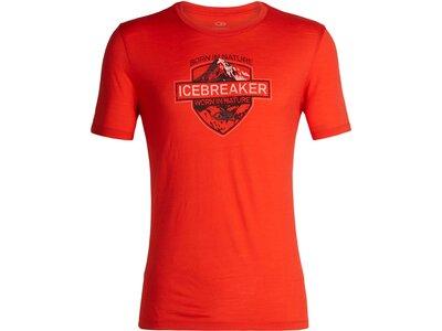 ICEBREAKER Herren T-Shirt Tech Lite SS Crewe Alpine Crest Rot