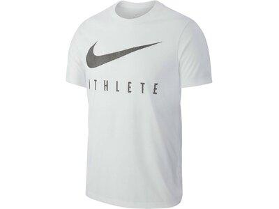 NIKE Herren Trainingsshirt Kurzarm Grau