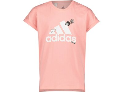"ADIDAS Mädchen T-Shirt ""Collegiate"" Rot"