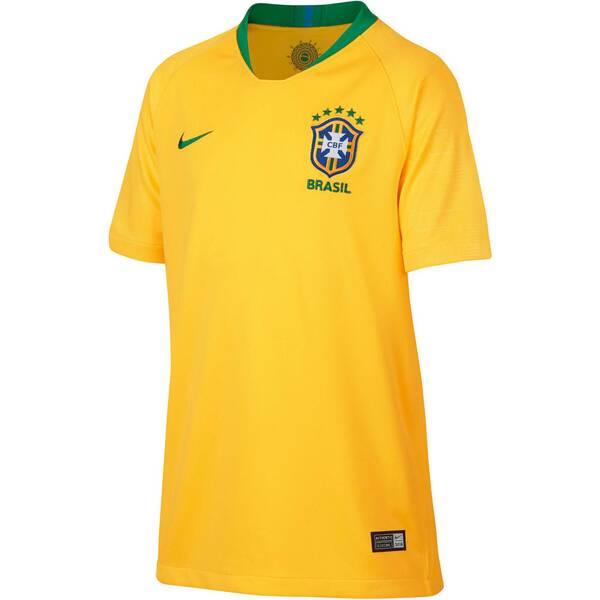 NIKE Kinder Fußballtrikot Brasil CBF Stadium Home WM 2018