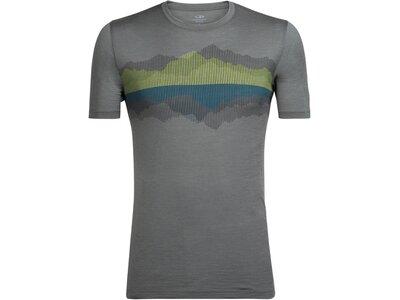 ICEBREAKER Merino Herren T-Shirt Tech Lite Short Sleeve Crewe Cook Reflected Grau