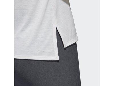 ADIDAS Damen T-Shirt 3-Streifen Weiß
