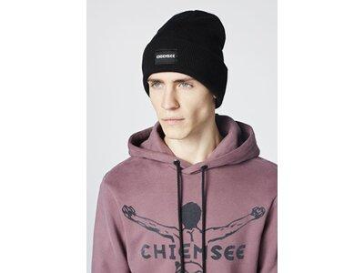 CHIEMSEE Unisex Mütze mit Chiemsee Logo Patch Schwarz