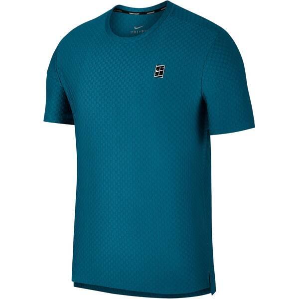 NIKE Herren Tennisshirt Top SS Checkered BL Kurzarm | Sportbekleidung > Sportshirts > Tennisshirts | Nike