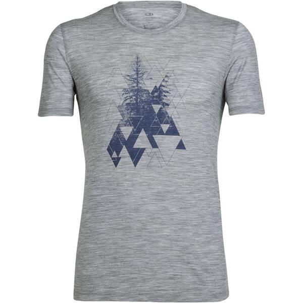 "ICEBREAKER Herren Shirt ""Tech Lite SS Crewe Evergreen Geo"" Kurzarm"