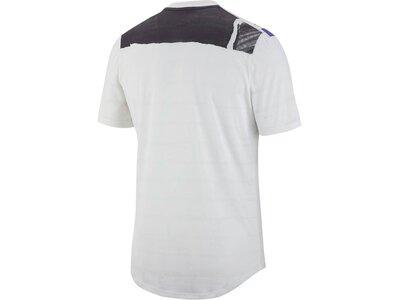 "NIKE Herren Tennis-Shirt ""Challenger"" Kurzarm Weiß"