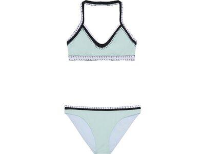 CHIEMSEE Bustier Bikini-Set einfarbig mit Häkeldetails Blau