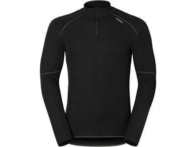 ODLO Herren Funktionsunterwäsche Langarm Shirt l/s turtle neck 1/2 Zip Schwarz