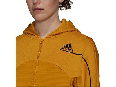 "ADIDAS Damen Trainingsjacke ""Z.N.E Atheltics Hoodoie COLD.RDY"" Braun"