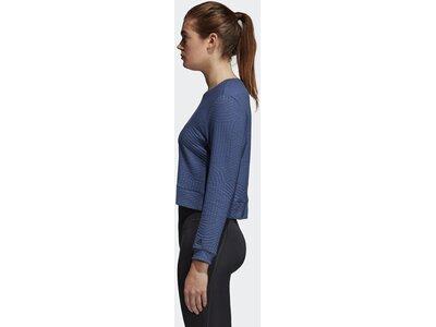 ADIDAS Damen Climalite Performance Sweatshirt Blau