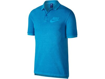 NIKE Herren Poloshirt Kurzarm Blau