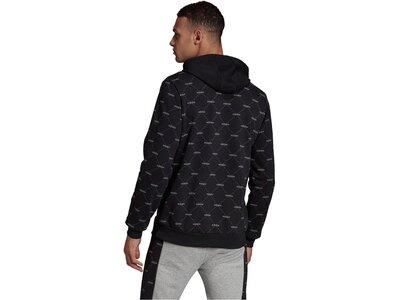 """ADIDAS Herren Sweatshirt """"Linear Graphic Hoodie"""" Schwarz"""