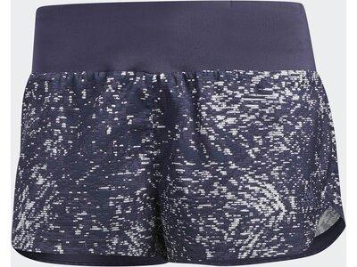 ADIDAS Damen Supernova Glide Print Shorts Blau