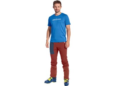 "ORTOVOX Herren Shirt Kurzarm ""185 Merino 1ST Logo"" Blau"