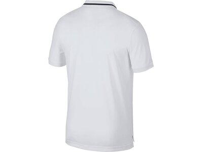 "NIKE Herren Poloshirt ""NikeCourt Dri-FIT"" Kurzarm Weiß"