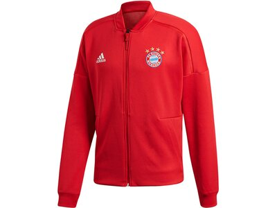 """ADIDAS Herren Fußball Sweatjacke """"FC Bayern München Anthem Home Z.N.E Jacket"""" Weiß"""