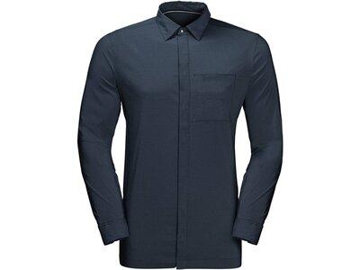 JACKWOLFSKIN Herren Berghemd Langarm Blau