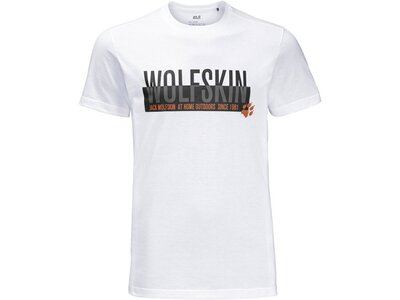 "JACKWOLFSKIN Herren Outdoor-Shirt ""Slogan T Men"" Weiß"