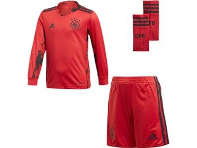 "ADIDAS Kleinkinder Torwartausrüstung Trikot + Shorts ""2021 Germany Home Goalkeeper Minikit"" Rot"
