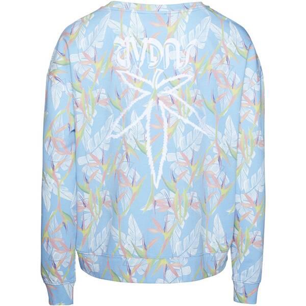 CHIEMSEE Sweatshirt mit Alloverprint und Stickerei auf dem Rücken