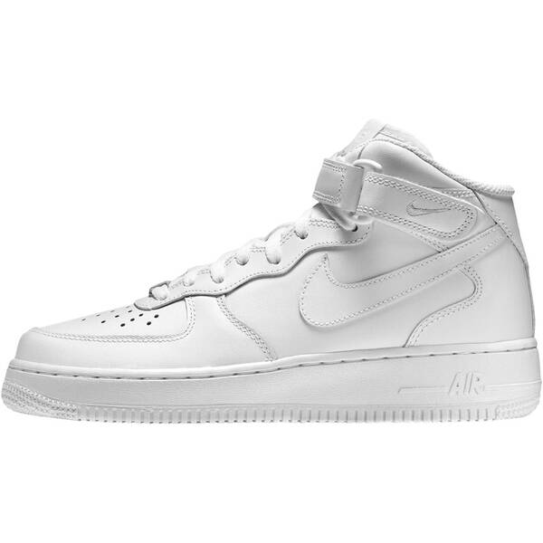 uk availability be2c9 5ff75 NIKE Damen Sneakers Air Force 1 Mid 07 LE Weiß