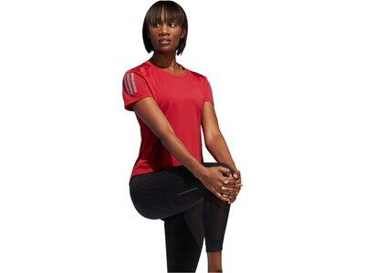 "ADIDAS Damen Laufshirt ""Own the Run"" Kurzarm Rot"