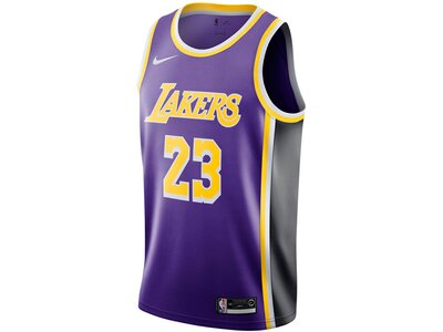 "NIKE Herren Basketballtrikot ""LeBron James Statement Edition Swingman Jersey (Los Angeles Lakers)"" Schwarz"