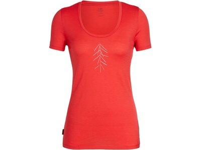 """ICEBREAKER Damen Outdoor-Shirt """"Tech Lite Short Sleeve Scoop Lancewood"""" Kurzarm Rot"""