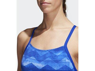 ADIDAS Damen Allover Print Badeanzug Blau