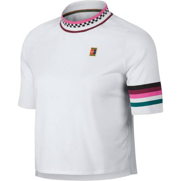 NIKE Damen Tennisshirt Breathe Slam Kurzarm | Sportbekleidung > Sportshirts > Tennisshirts | White - Green | Nike